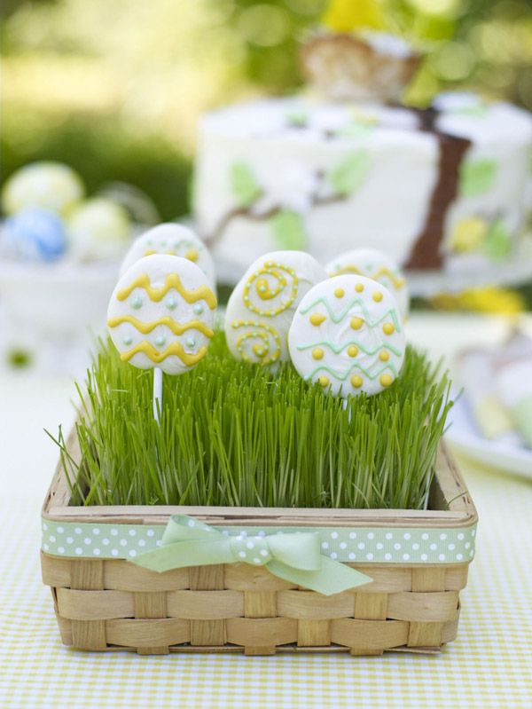 Easter Egg Lollipops- from ideas for a spring or Easter party for children
