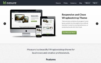 Wrap Bootstrap, Themes for Bootstrap http://twitter.github.com ...