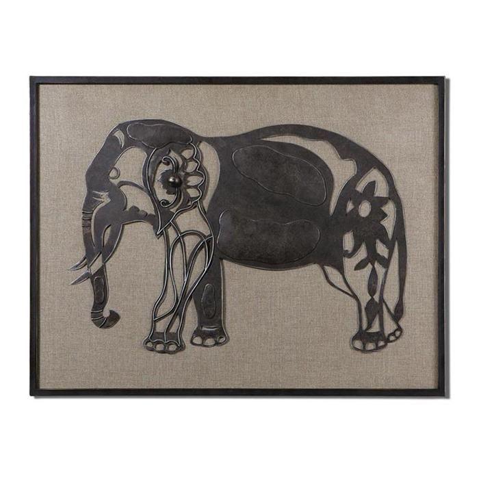 Kerala elephant wall art in rustic bronze nebraska furniture mart