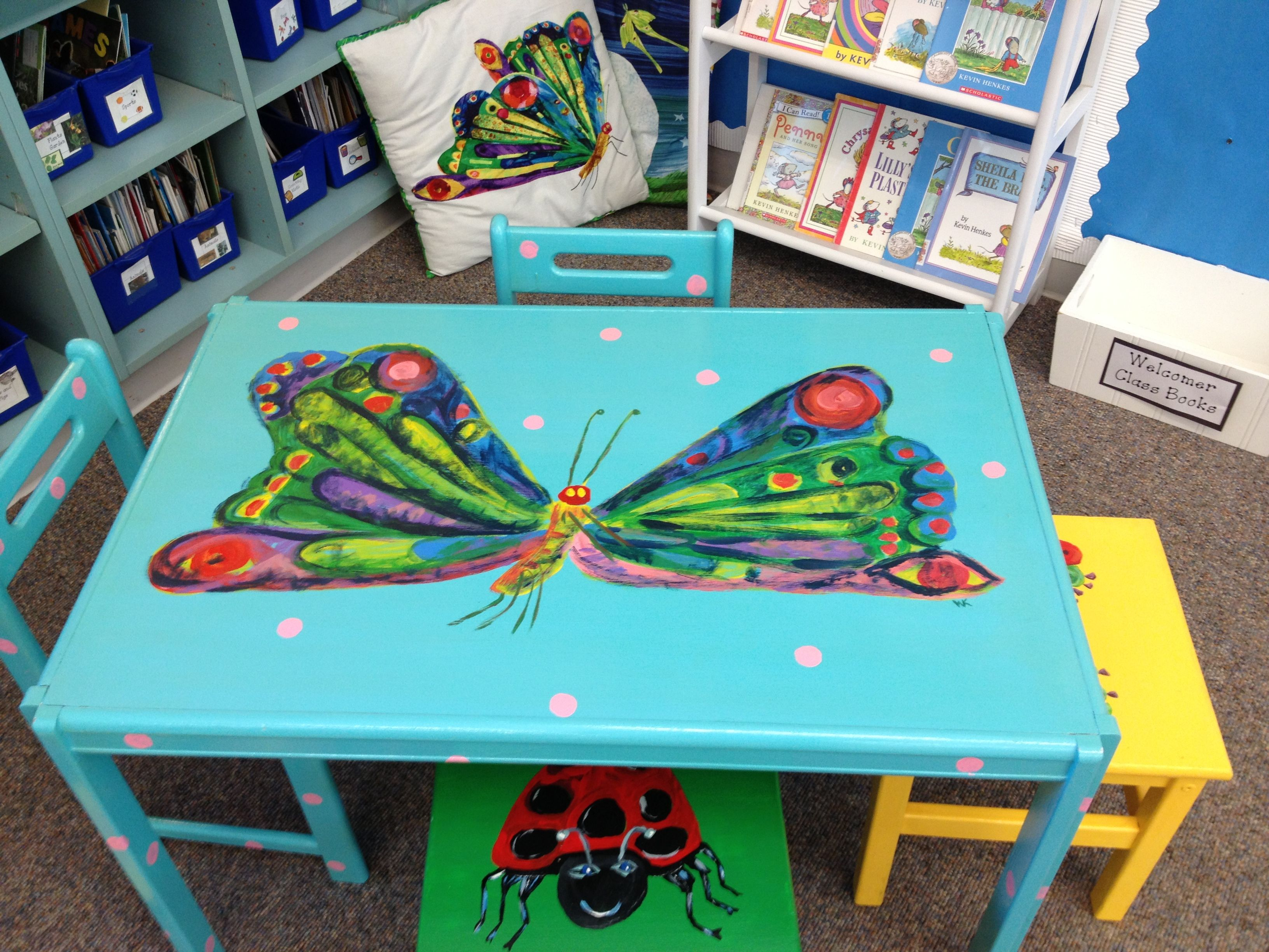 I Painted This Eric Carle Butterfly To Go In My Classroom