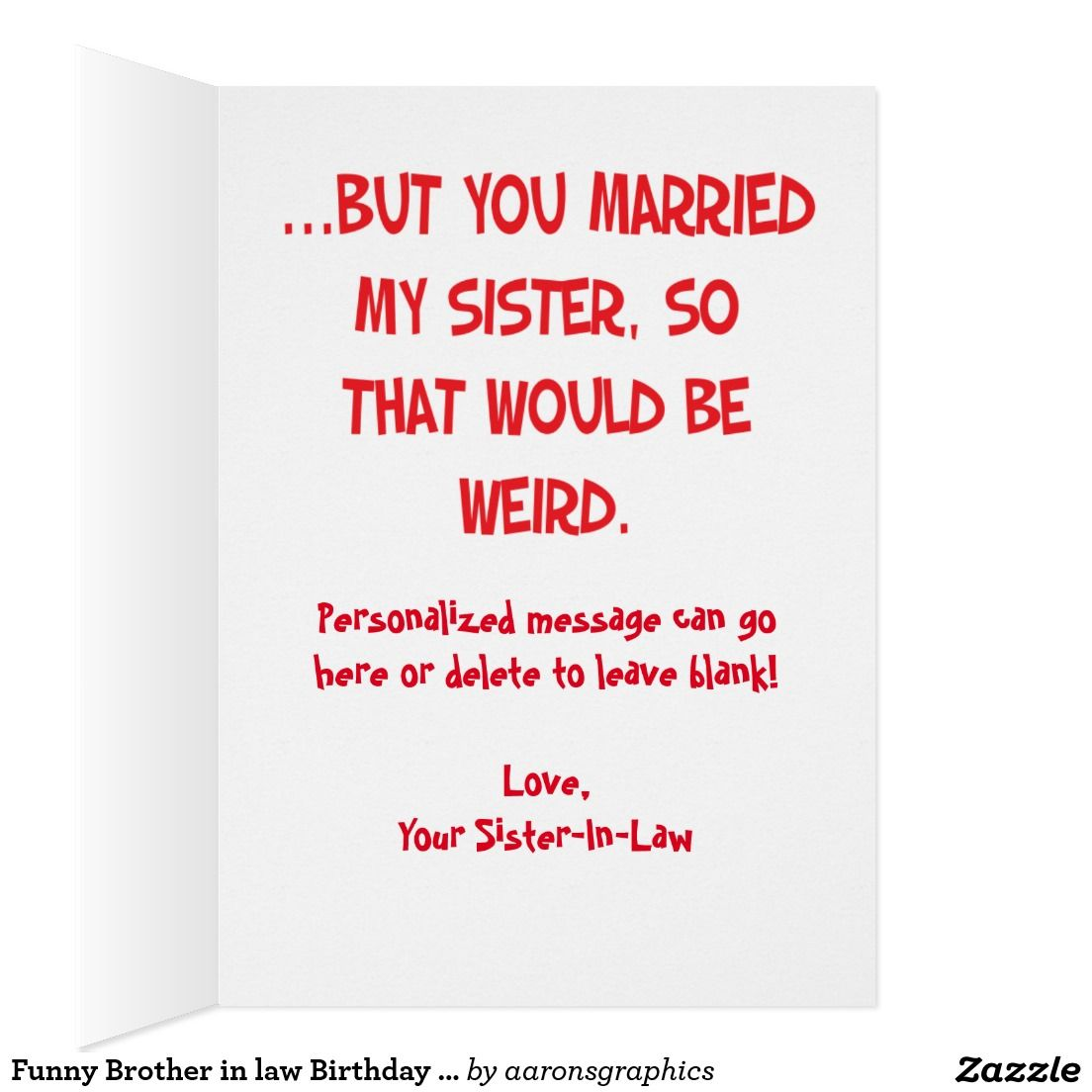 Funny brother in law birthday greeting card greeting cards funny brother in law birthday greeting card bookmarktalkfo Image collections