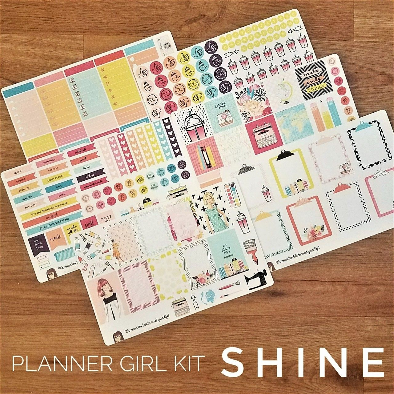 """Shine"" Planner Girl Kit - Kit07 - TheResetGirlShop"