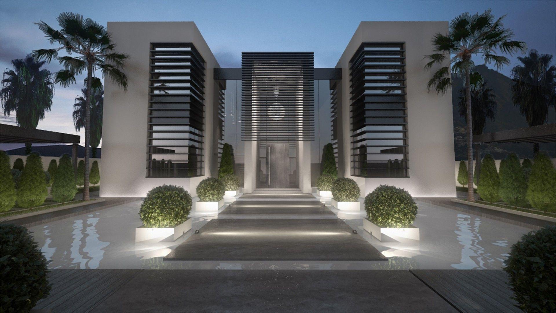 Beautiful Villa In Guadalmina Baja Beautiful Villas Villa Entrance Design