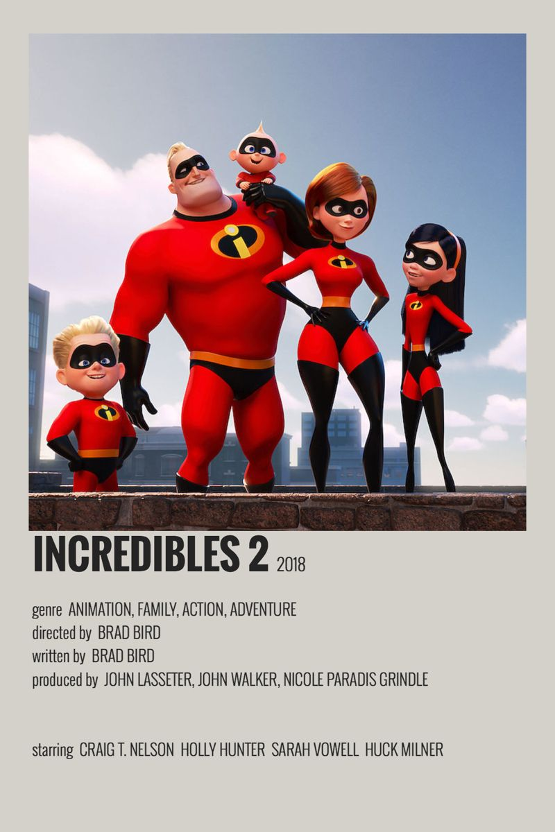 Incredibles 2 Movie Poster Disney Movie Posters Movie Posters Minimalist Movie Poster Wall