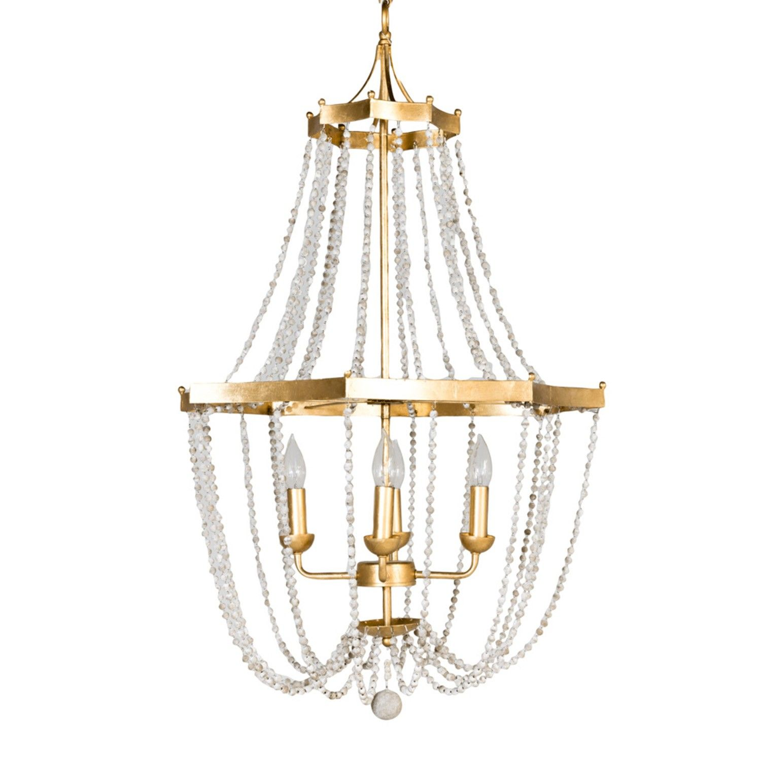 Whitney chandelier in gold by gabby materials metal wooden whitney chandelier in gold by gabby materials metal wooden beads finish vintage mozeypictures Images