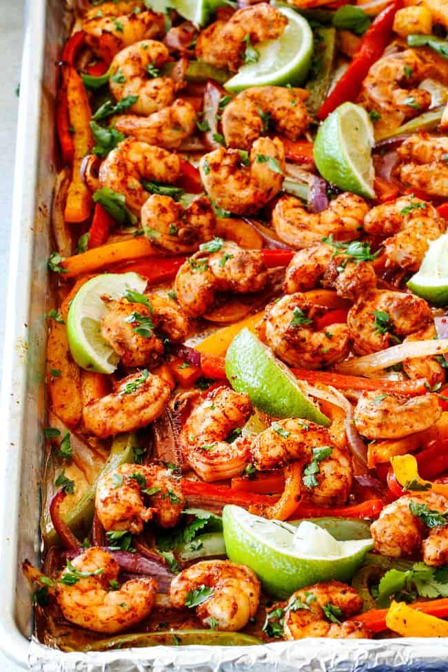 Shrimp Fajitas (Easy Sheet Pan)