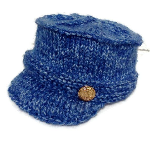 Boys News Boy Hat The Max Hat Infant to 6 month by WeeLambieKnits, $20.00