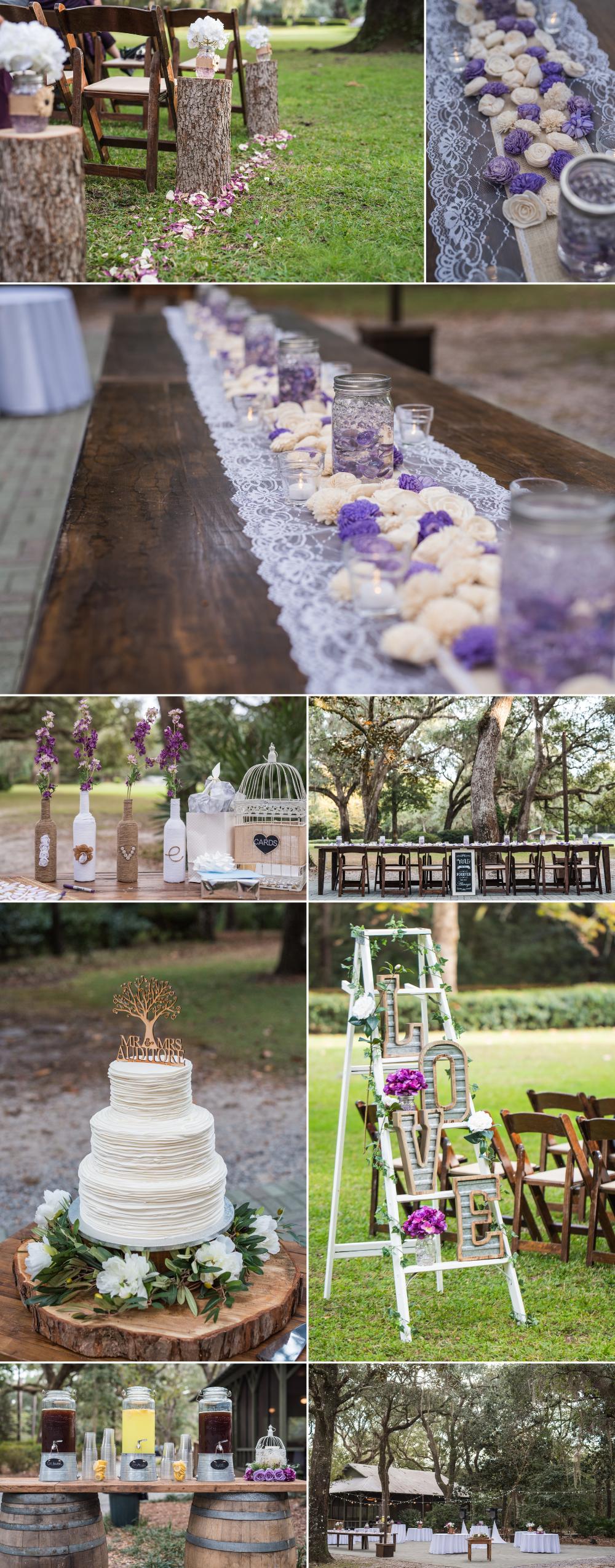 hilary and chris eden gardens state park wedding santa