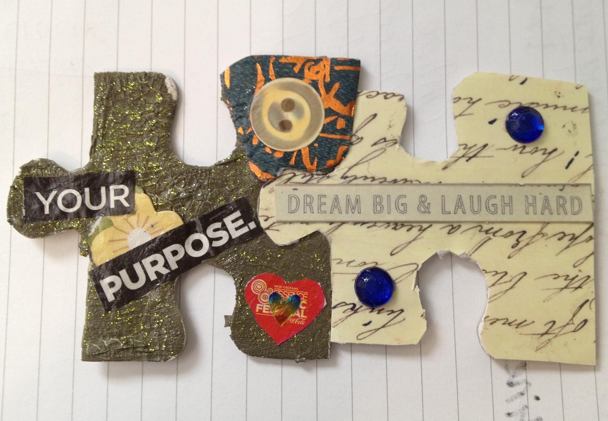 Your Purpose: Dream Big and Laugh Hard by Lisa Miller for Art Therapy + Happiness Project #arttherapy