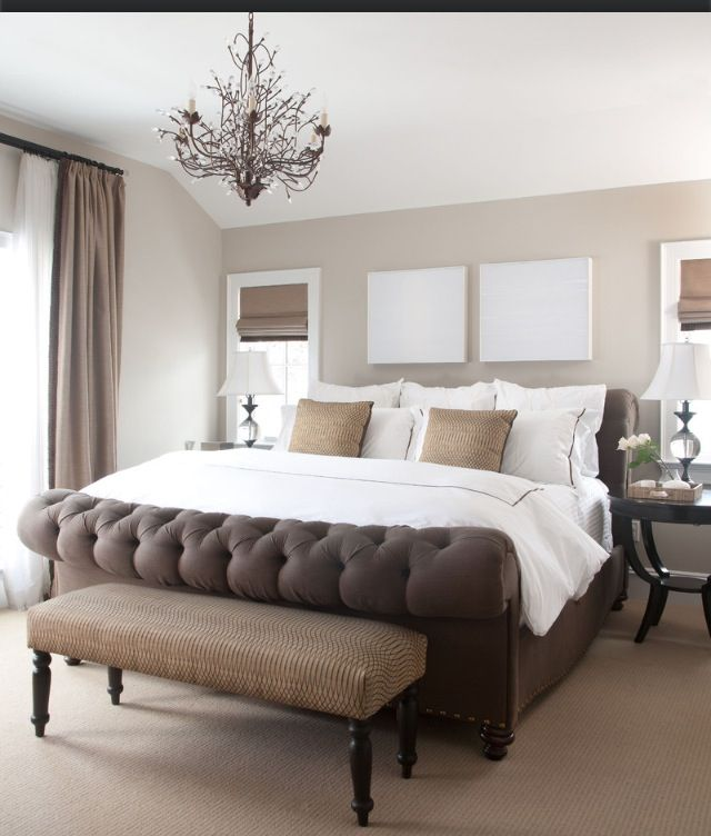 Simple Masculine Bedroom: Beautiful King Size Bed, Love The Simple Decor! Masculine