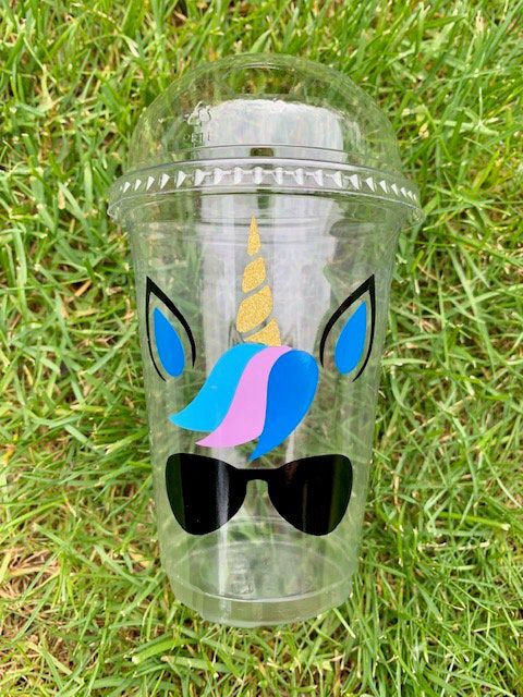 Unicorn party favor/unicorn plastic cup/disposable cup/unicorn cup/birthday party cup/unicorn cup with lid/unicorn goodie bag/popcorn cup Excited to share the latest addition to my shop: unicorn party favor/unicorn plastic cup/disposable cup/unicorn cup/birthday party cup/unicorn cup with lid/unicorn goodie bag/popcorn cup