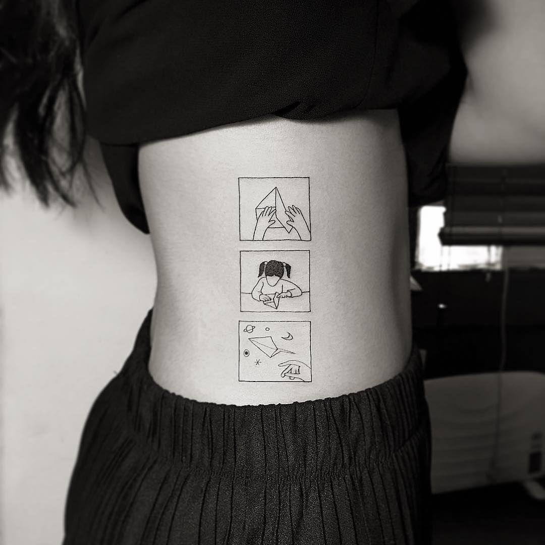 30 awesomely beautiful and feminine minimalist tattoos