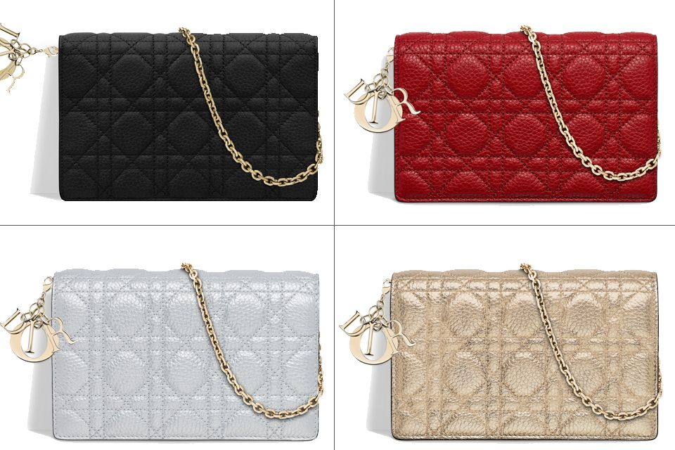 Lady Dior Wallet On Chain WOC  62bbbf7718037