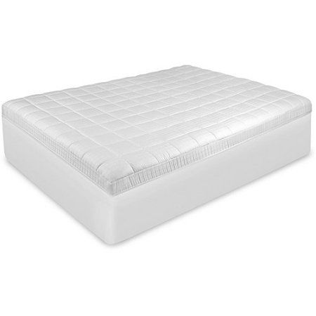 BioPEDIC Luxury Euro Top Anti-Microbial Mattress Pad with Repel-A-Tex, White