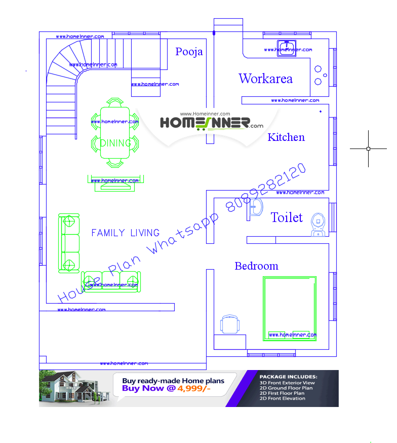 Today we are showcasing a 900 sq ft free kerala house for Indian house plans for free