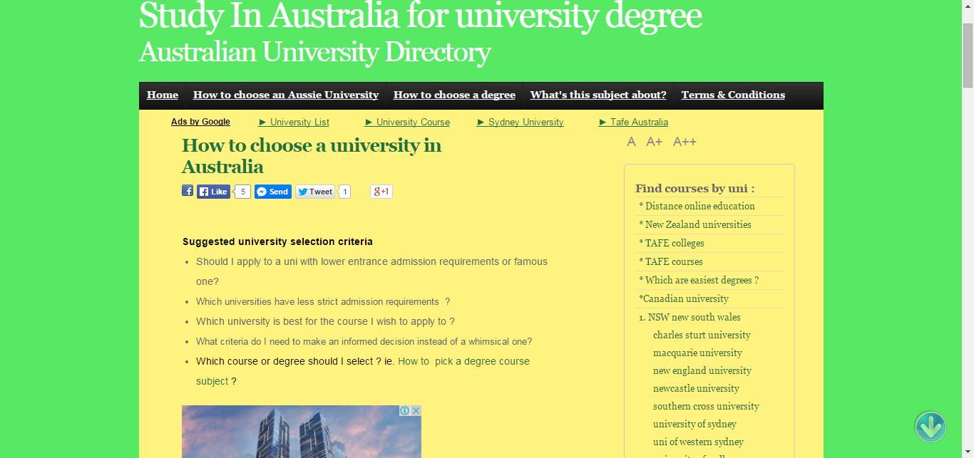 how do i choose a university