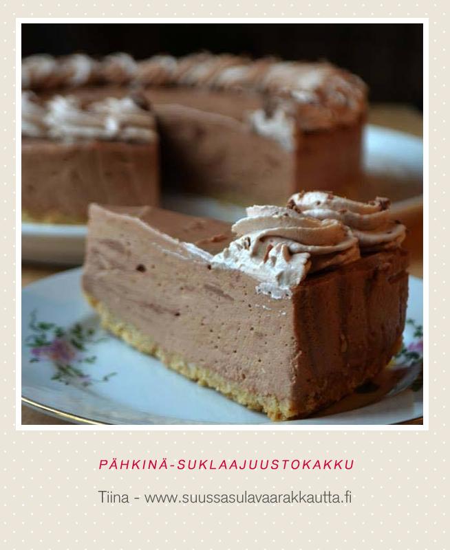 Suussasulavaa rakkautta: Pähkinä-suklaajuustokakku