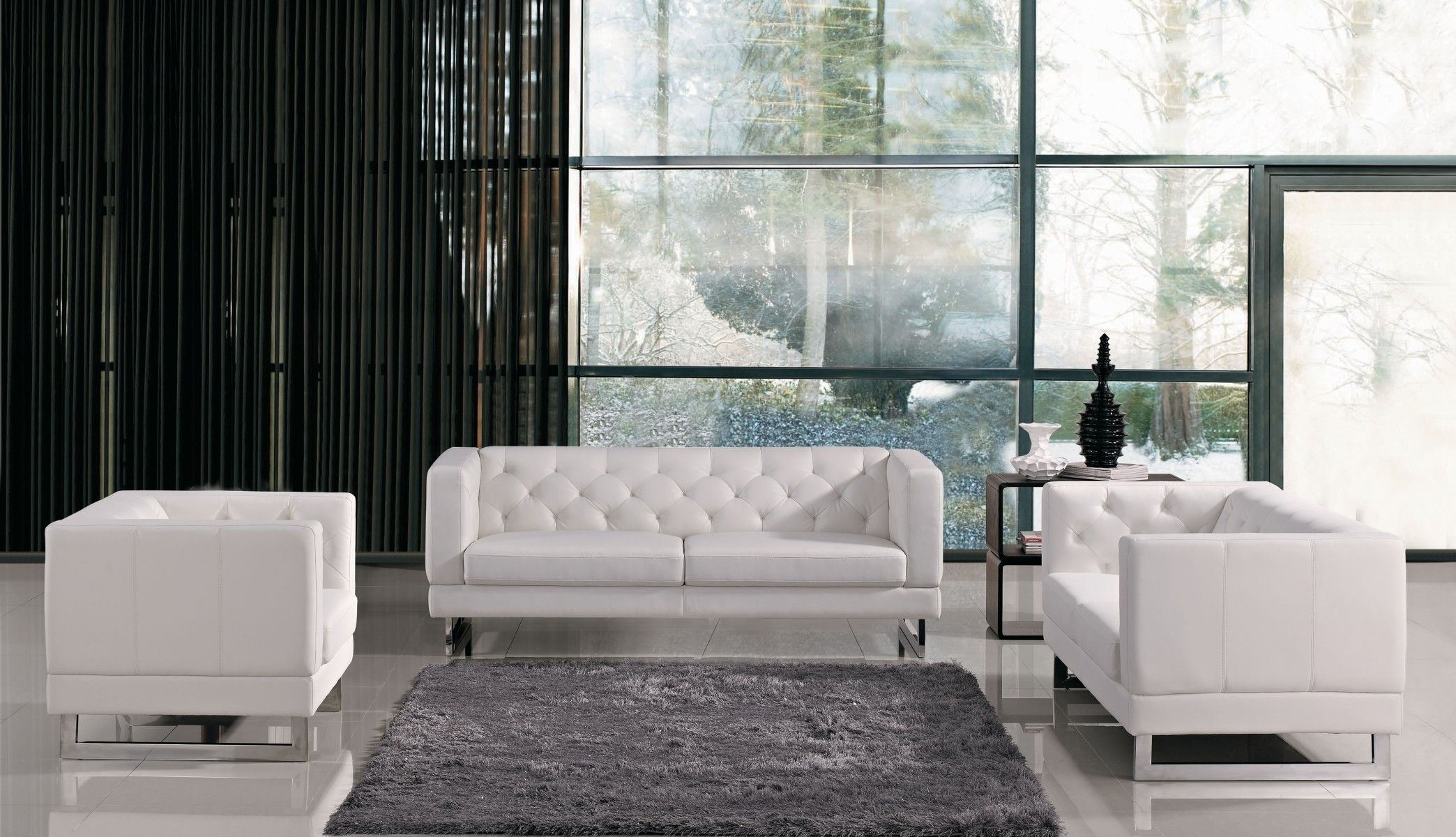 Windsor Italian Design Sofa Set Living Room Leather White Sofa Set White Leather Sofa Set