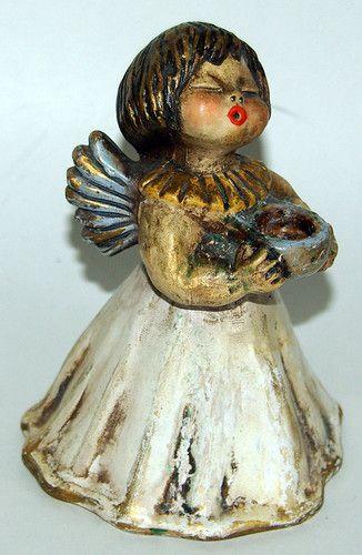 Vintage Hand Made Italy Ceramic Thun Bolzano Bozen Candle