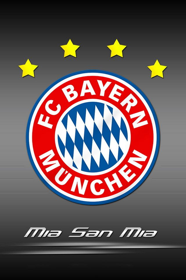 Mia San FC Bayern Munchen Logo HD Wallpapers For IPhone 4 And 4s