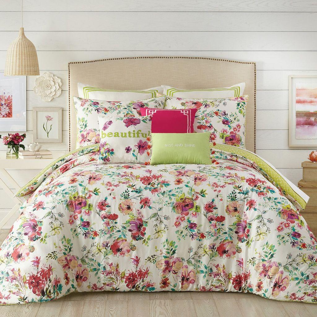 Js Jessica Simpson Watercolor Garden Comforter Set Green In 2019