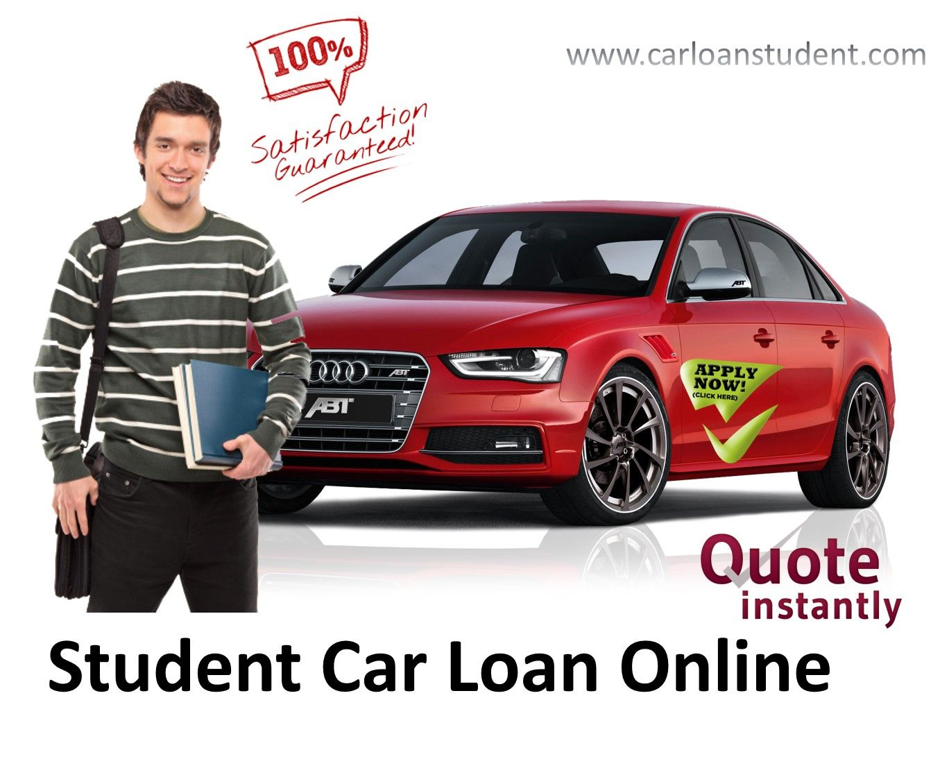 Get best deal on student car loans online for a college