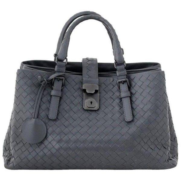 569e8cb8d6d4 Preowned Bottega Veneta Small Roma Tote- Grey Leather (19