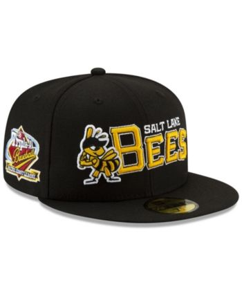 new product ace58 e4203 New Era Salt Lake Bees League Patch 59FIFTY-fitted Cap - Black 7 1 4