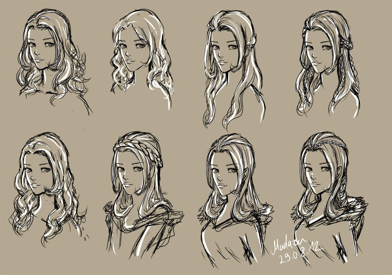 Anime Girl Hairstyles Drawings: Hairstyles By Telemaniakk On DeviantART