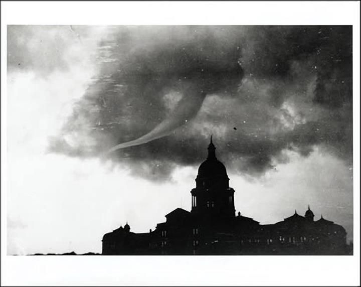 Traces of Texas    Tornado over Austin, 1922.