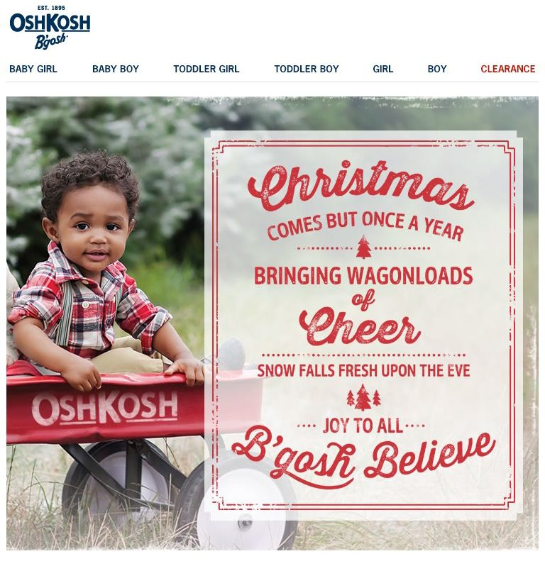 Oshkosh  Holiday Letter Email Design   Inspiration Pinterest - holiday letter