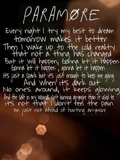 Paramore last hope lyrics- this song is my life right now