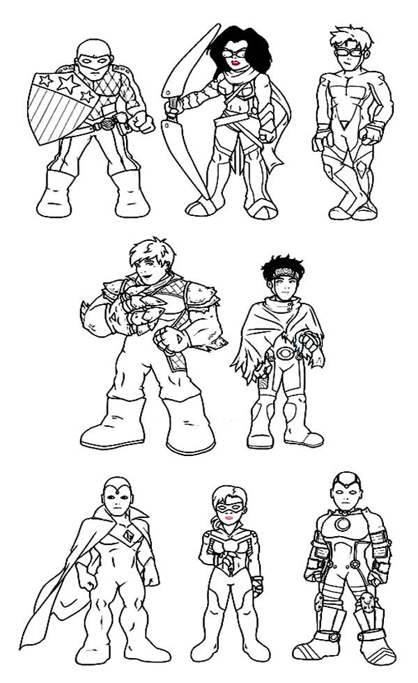 Super Hero Squad Coloring Pages | LineArt: Super Hero Squad (Marvel ...