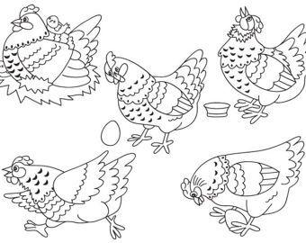 Buy 1 Get 1 Free Chicken Clipart Digital Vector Farm Bird Hen Egg Rooster Easter Chicken Clip Art For Personal Chicken Clip Art Clip Art Free Clip Art