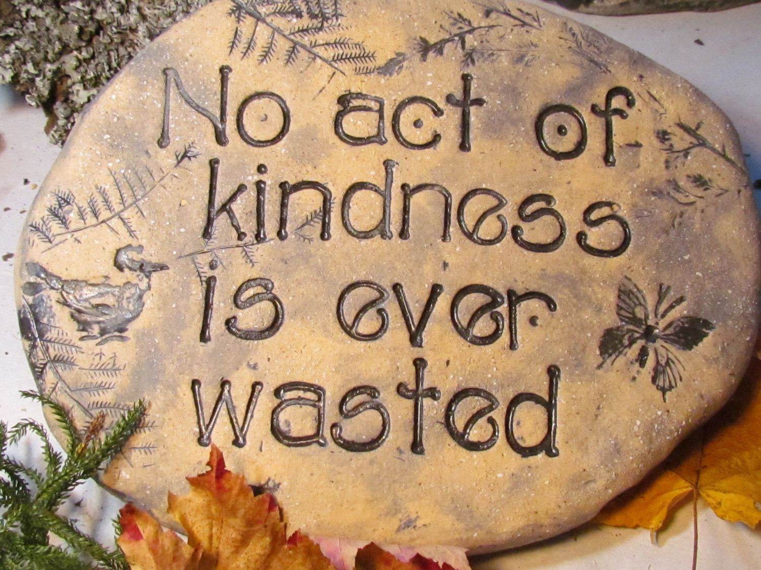 Inspirational Words Of Kindness Garden Stone Outdoor Decor