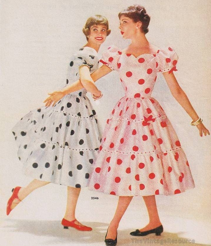 Polka dot fashion history 13