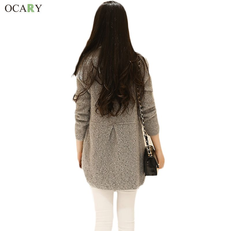 ad4f1a244f0d1 New Women Casual Long Sleeve Knitted Cardigans Crochet Ladies Sweaters  Fashion Tricotado Cardigan Autumn Winter