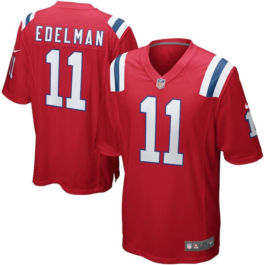 Mens New England Patriots Julian Edelman Nike Red Alternate Game Jersey Jersey Patriots New England Patriots Football Edelman Jersey