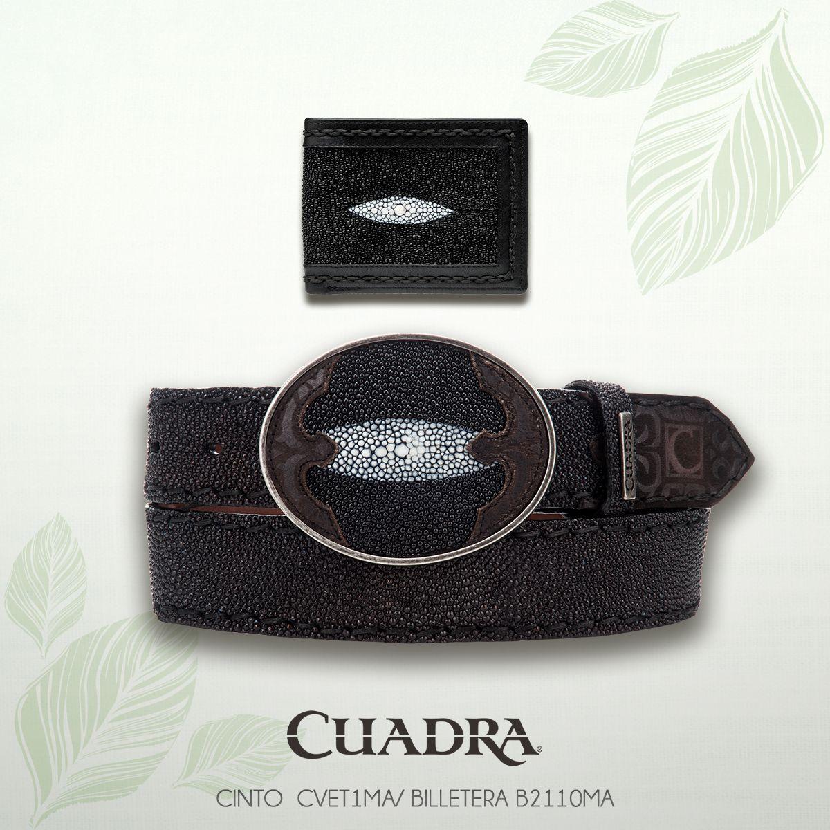 Tu complemente perfecto está en Cuadra. #Piel #Cartera #Cinturón #Mantarraya