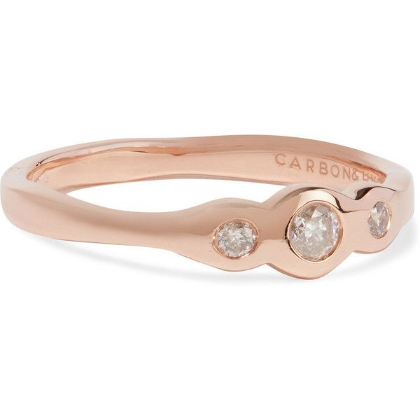 Carbon Hyde Trilogy 14karat rose gold diamond ring 460