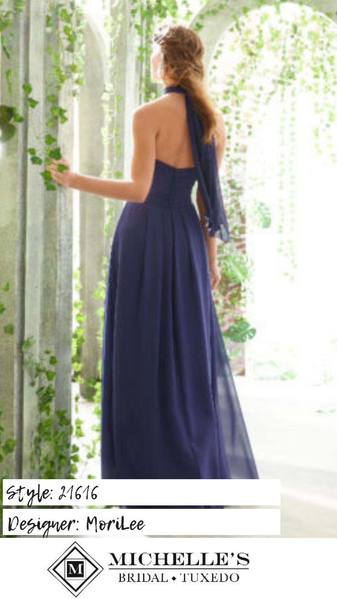 79fd245d0f8 Chiffon Bridesmaid Dress Featuring a Twist-Tie