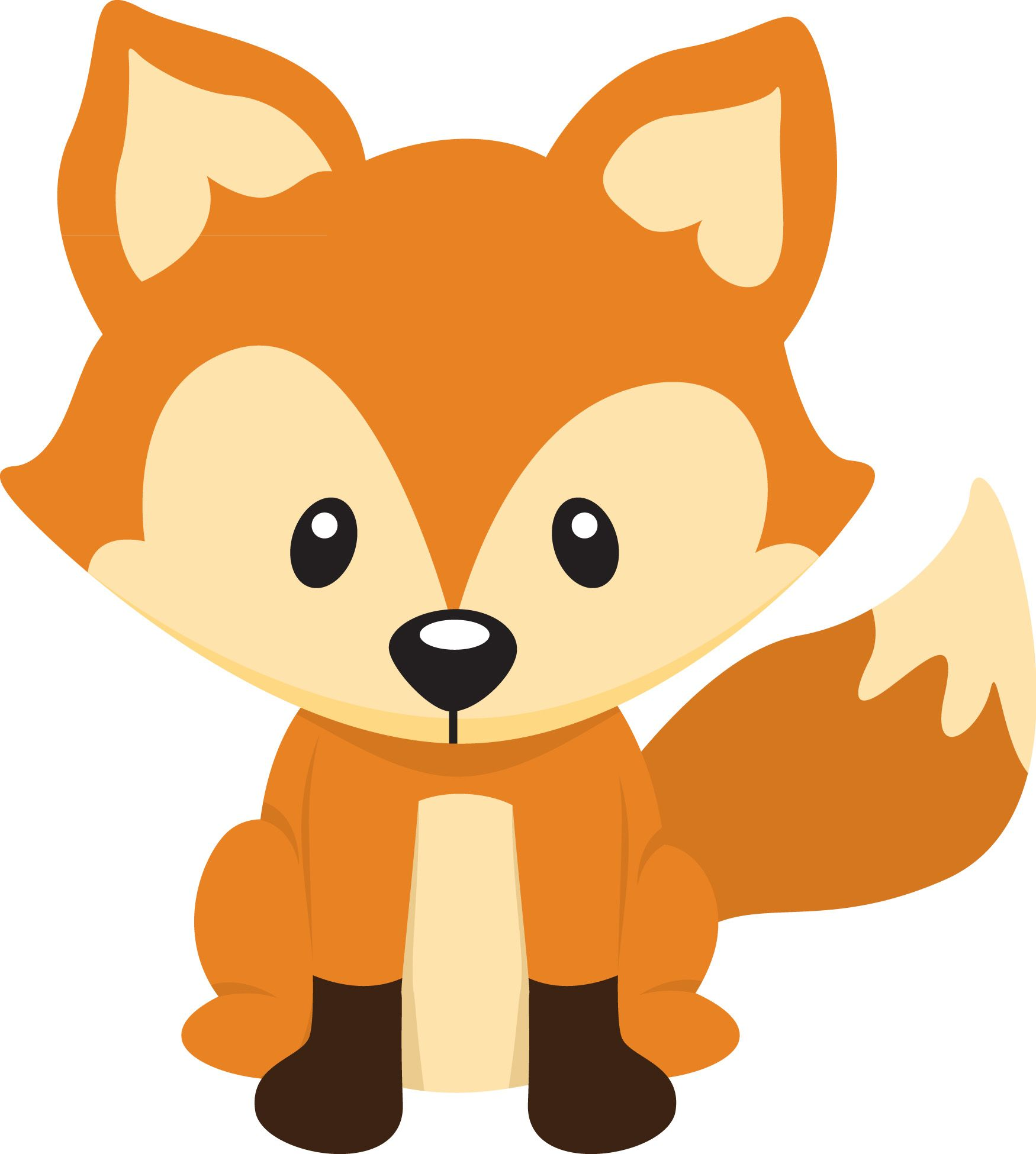 Free Clip Art Woodland Animals Baby Fox