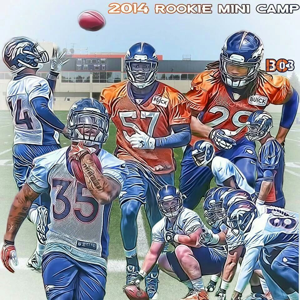 Rookie camp denver broncos pinterest denver