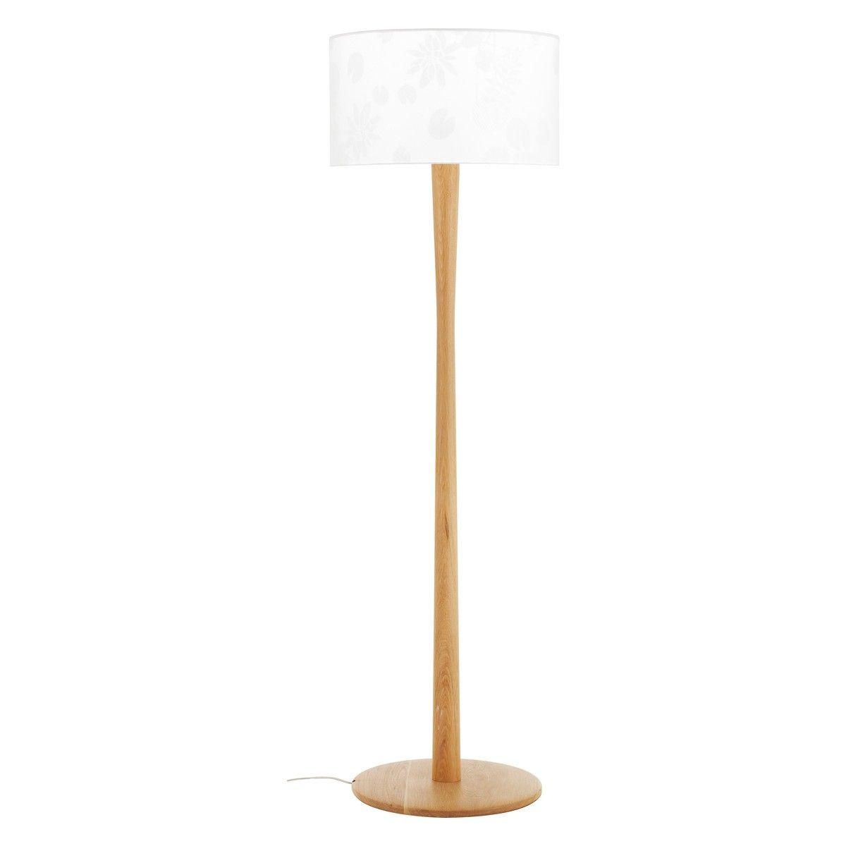 POLE Oak Floor Lamp Base