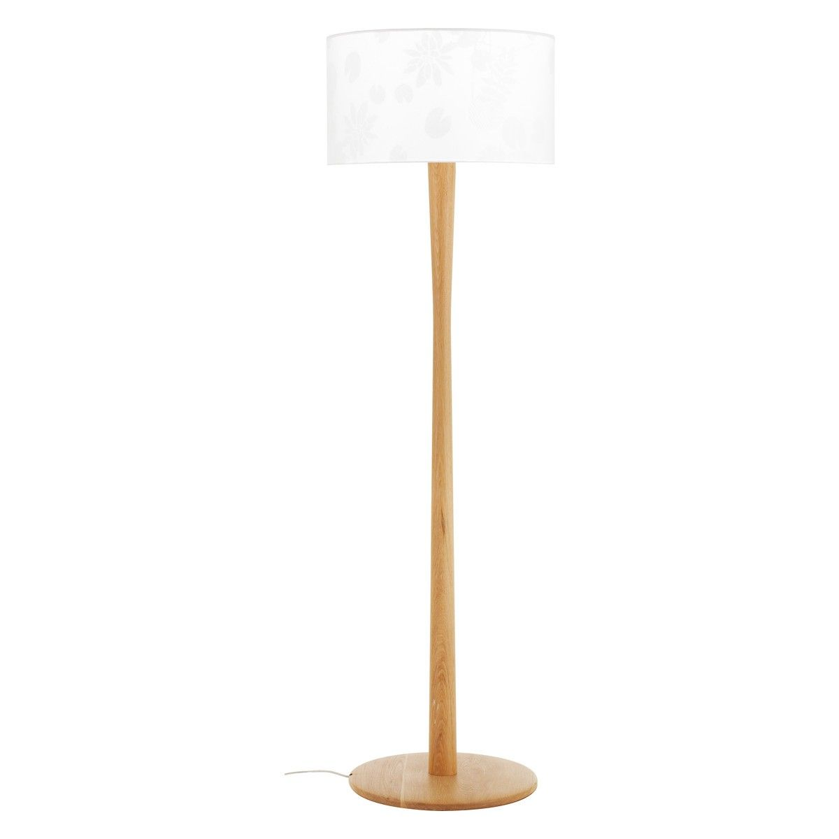 Wooden Floor Lamp Part - 23: POLE BASE Oak Floor Lamp