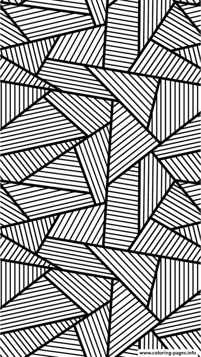 Print Zen Anti Stress Adult Triangles Traits Coloring Pages