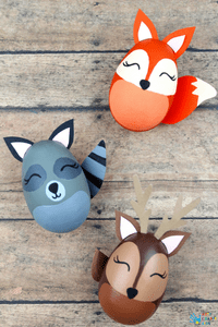Woodland Animal Easter Egg Craft