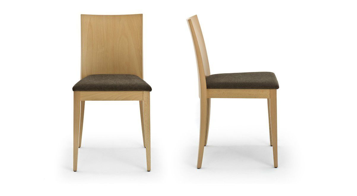 Chair Side View Side And Front View Stackable Wooden