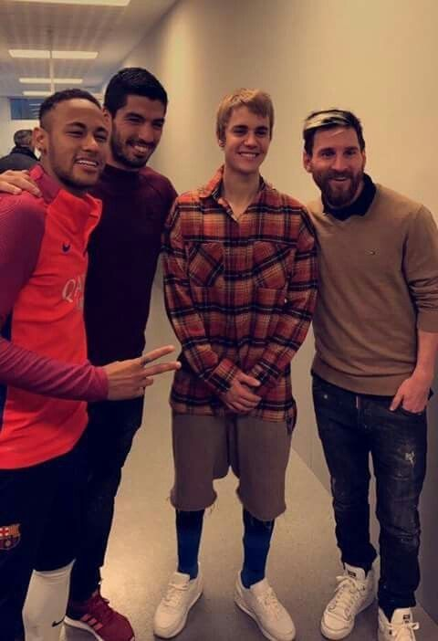 Justin Bieber Messi And Barcelona Image Justin Bieber Messi