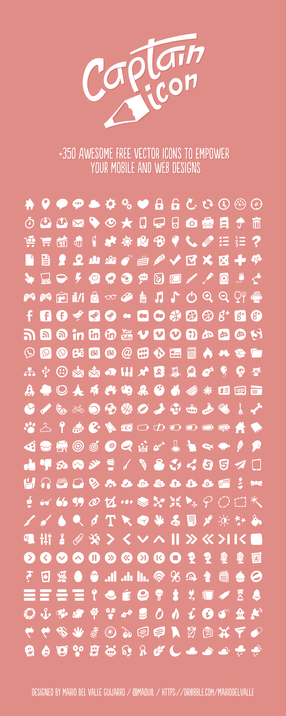 Captain Icon +350 free vector icons 귀여운 음식 그림, 무료 아이콘 및 디자인
